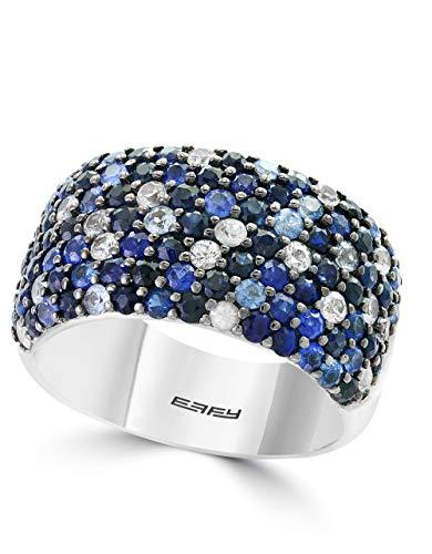 Effy Splash 925 Sterling Silver Sapphire Ring, 3.26 TCW IRS0A672SS