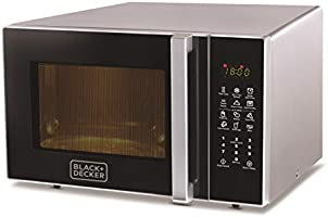 Black & Decker 30L Microwave Oven with Grill, Silver - MZ30PGSSA-B5