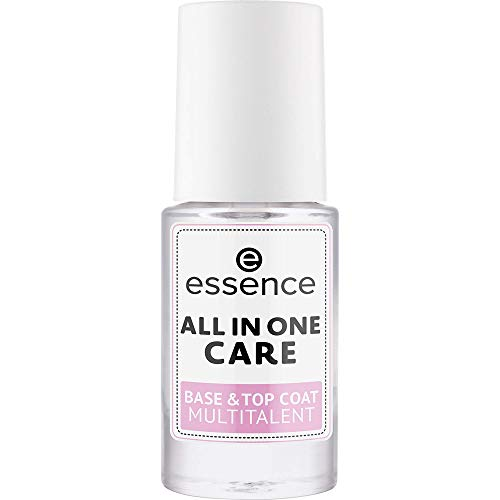 All in One Care Base & Top Coat Multitalent ESSENCE Base & Top Coat Donna 8 ml Pennellino
