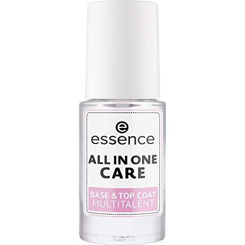 essence ALL IN ONE CARE BASE & TOP COAT MULTITALENT, Nail Care, Nagelpflege, transparent, pflegend, natürlich, ohne Aceton, vegan, ohne Konservierungsstoffe (8ml)