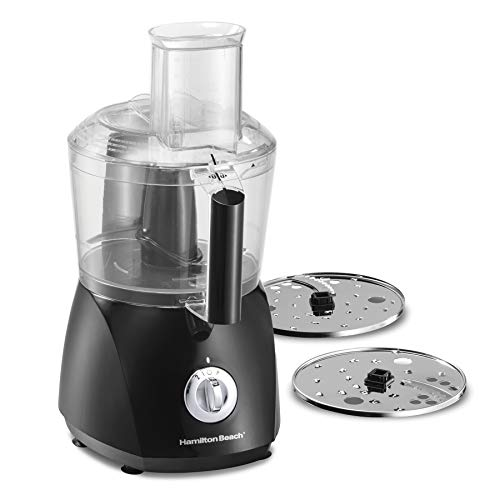 Hamilton Beach ChefPrep 10-Cup Food Processor & Vegetable Chopper with 6 Functions to Chop, Puree, Shred, Slice and Crinkle Cut, Black (70670)