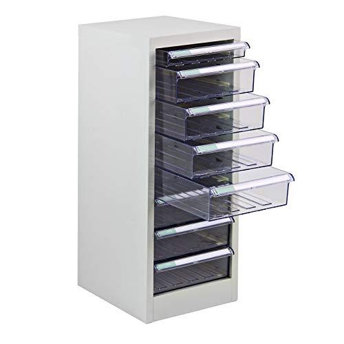 ADB Schubladencontainer Schubladenbox Schubladenschrank Container 8 Schubladen 745x280x350 mm