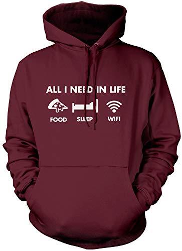 All I Need in Life - Pizza Sleep WiFi - Sudadera unisex con capucha