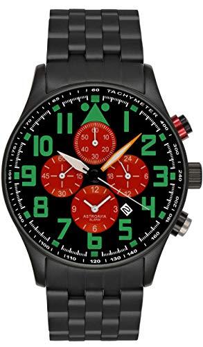 Astroavia V19S - Orologio da polso, da uomo, con cronografo al quarzo