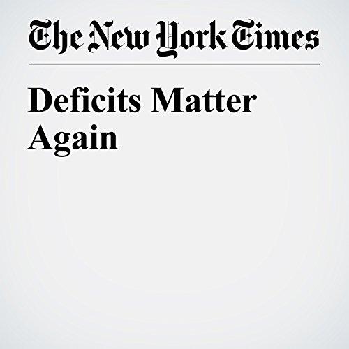 Deficits Matter Again copertina