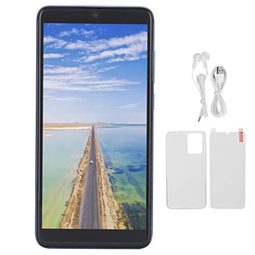 Teléfono móvil multifunción, teléfono con Pantalla de 5.8in, Tarjeta Dual, teléfono con Doble Modo de Espera para Android 6.1(Blue)