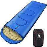 Sacco a pelo ultraleggero compatto, Sacco a pelo leggero portatile impermeabile e confortevole con sacco a compressione (Blu)