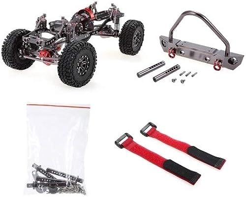 TOP_RC_PRO 1 10 Cool Racing CNC Aluminium und Carbon Rahmen AXIAL SCX10 Chassis 313mm für Wheelbase Gun Metal