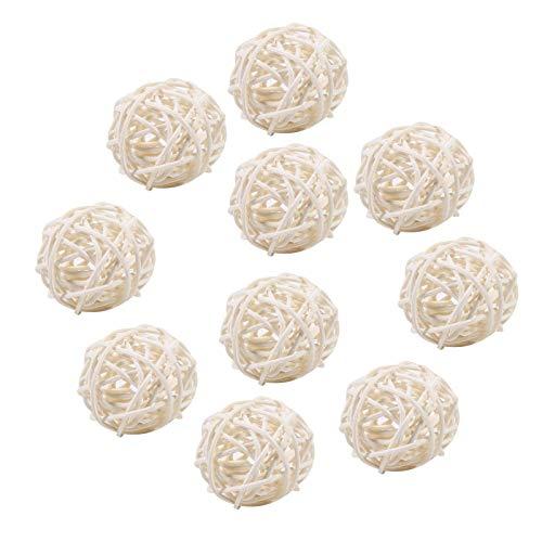 S-TROUBLE Bâton d'arôme de Remplacement de diffuseur de Boules de Parfum de rotin de 10 pièces pour des salles de Bains