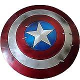 Capitán América Shield Avengers Juguetes para Adultos, Película 10 Aniversario Edición De Coleccion Aleación De Grado De Aviación 1:1 Metal 60cm Escudo Ahumado B
