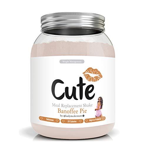 Cute Nutrition Batido Sustitutivo de Comida Sabor Pastel de Banoffee para el Control de la Pérdida de Peso en Polvo Bebida Dietética para Mujer Bote de 500 g…