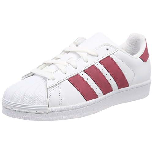adidas Superstar J, Scarpe da Ginnastica Basse Unisex-Bambini, Bianco (White Cq2690), 38 EU
