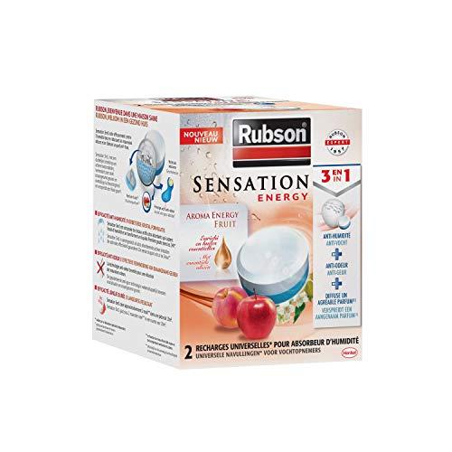 Rubson Sensation Energy, 2 Recharges universelles de 300 gr pour absorbeur d