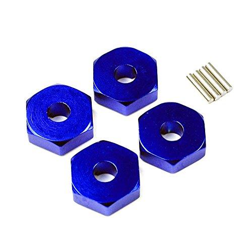 Slash 4X4 1:16 Aluminum Alloy Wheel Hex Adaptor Hop Up Upgrade, Blue by Atomik RC - Replaces Part 7154