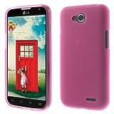 jbTec TPU-Hülle Handy-Hülle - Schutz-Hülle Silikon-Hülle Cover Tasche Bumper Schutzhülle Handyhülle Handytasche, Farbe:Pink-Transparent, passend für:LG L90