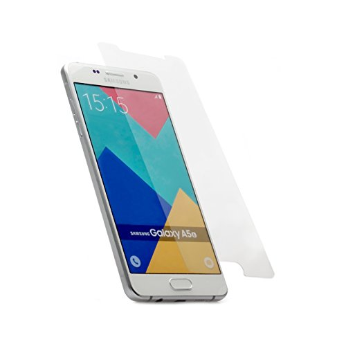 iCues Samsung Galaxy A5 Modell 2016 Panzerglas Klar   Full Screen Schutz Panzerglasfolie Tempered Glass Glasfolie Display Glas Protector Glasschutzfolie Panzer Folie Schutzfolie Schutz