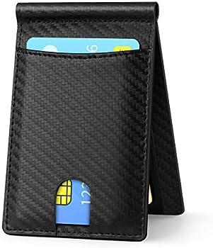REGC Genuine Leather RFID Blocking Thin Minimalist Wallet for Men