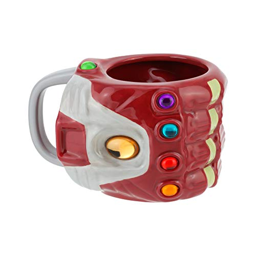 Nano Gauntlet Shaped Marvel Avengers: Endgame | 3D Oversized Ceramic Drinking Mug Tea Coffee, Dolomite