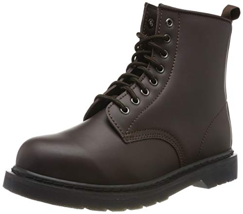 Urban Classics Unisex-Erwachsene Heavy Lace Combat Boots, Rot (Burgundy 00606), 38 EU