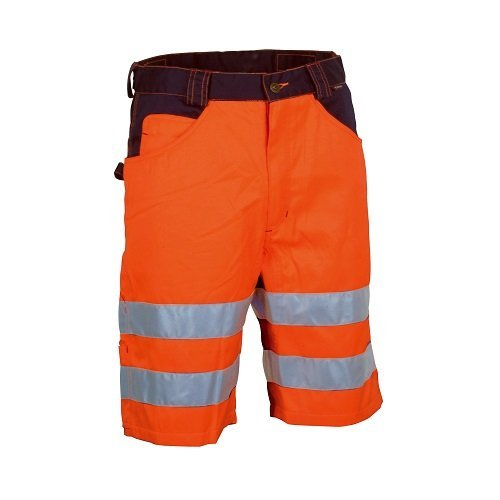 Cofra, Visible V074 korte werkbroek in signaalkleur, maat 44, oranje/marine, 40-00V07400-44, 56 EU, oranje/marineblauw, 1