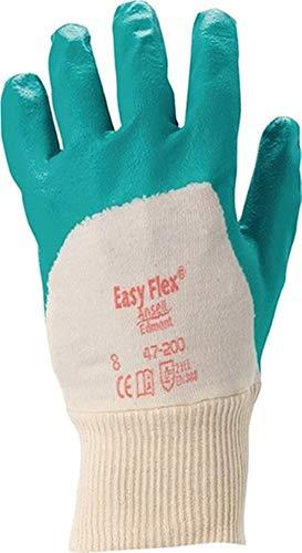 Ansell Handschuhe Easy Flex 47-200, Größe 10 grün, 12 Paar