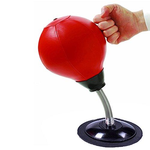 Starall Stress Reliever Desktop Geschwindigkeit Punching Ball Punch-Beutel mit reduziertem Druck mit starker Saugnapf, Pumpe