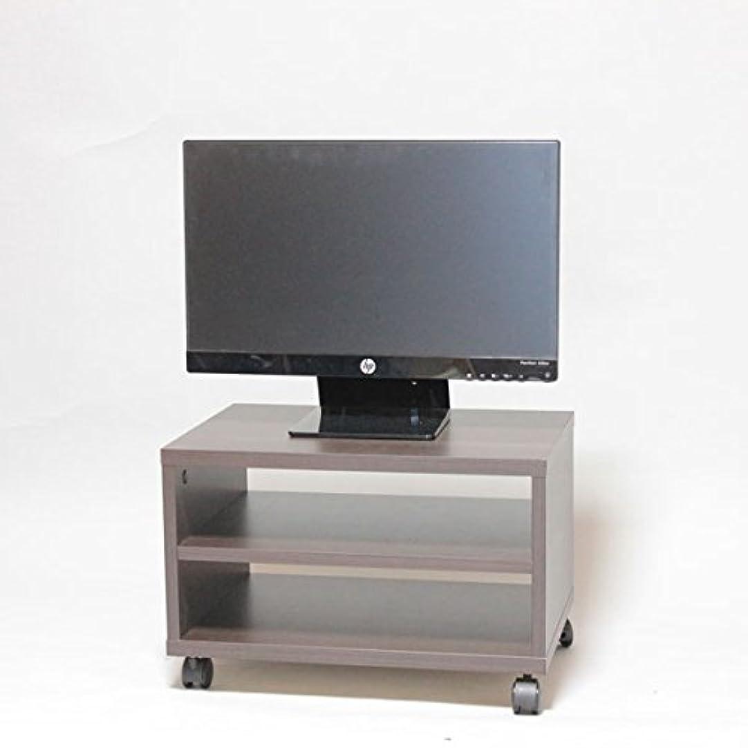 カナダ目立つピアノテレビ台?プリンター台 キャスター付き 幅50×奥行き36×高さ33cm ダークブラウン
