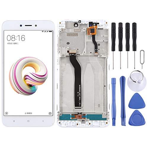 XHC reemplazo de la reparación Pantalla LCD y digitalizador Asamblea Completa con el capítulo for For Xiaomi redmi 5A teléfono Inteligente (Color : Blanco)