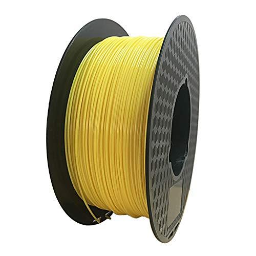 PETG Filament 1.75mm 3D Printer Filament PETG Non-tangled 3D Printing Material 1 Kg 1 Spool For 3D Printer And 3D Pen Multi-color Optional(Color:yellow)