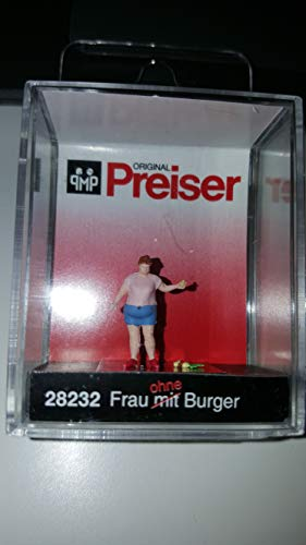 Preiser 28232 Frau mit/ohne Burger 1:87
