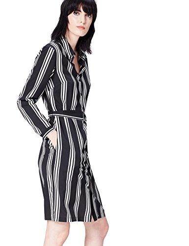 find. 13639 vestidos mujer casual, Negro (Black), 36 (Talla del Fabricante: X-Small)