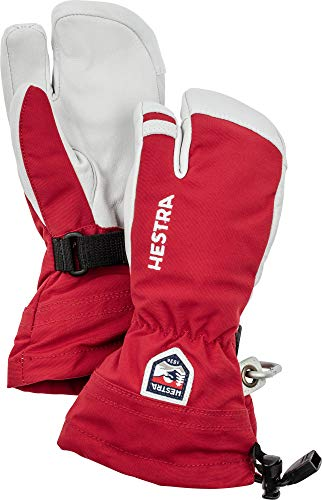Hestra Army Leather Heli Ski JR 3-Finger 5 RED