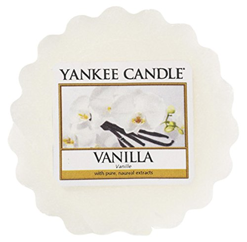 YANKEE CANDLE Vanilla Tart da Fondere, Cera, Bianco, 5.8x5.7x1.7 cm