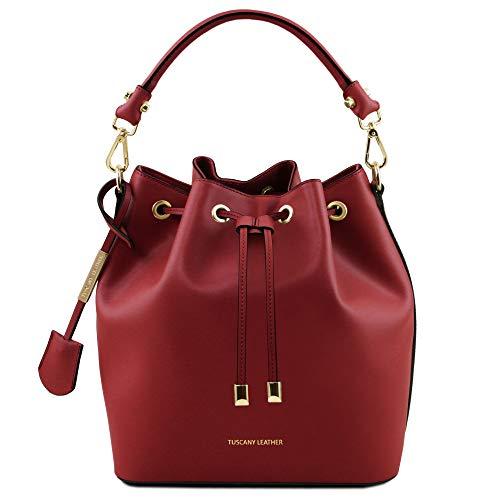 Tuscany Leather Vittoria Borsa secchiello da donna in pelle - TL141531 (Rosso)