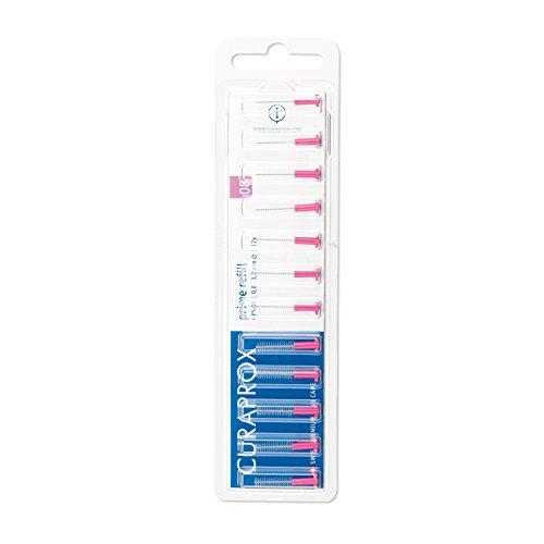 CURAPROX Interdentalbürsten, Größe 0,8mm, 12 Stk, für die Reinigung schmaler Zahnzwischenräume, Zahnreiniger Bürstchen, CPS 08 prime Interdental Bürsten