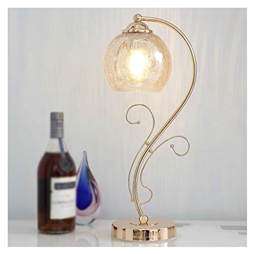 Lampara Mesilla Lámpara de mesa de noche moderna lámpara de escritorio de cristal de cristal roto cristal lámpara sombra dorada metal flor rama lámpara poste dormitorio sala de estar E27 Lámpara de Me