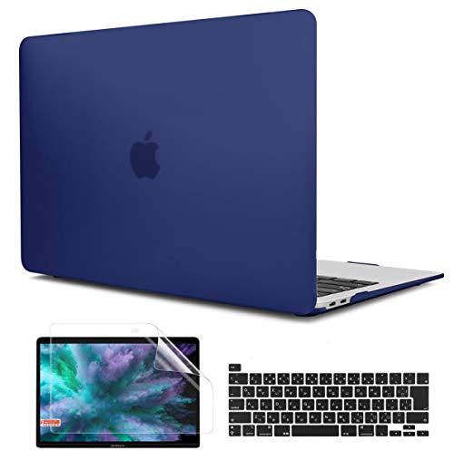 TwoL MacBook Pro 13 インチ ケース 2020 A2251 A2289 A2338 M1 対応 耐衝撃 軽量 排熱機能 改良型 ハードケース + 液晶保護フィルム + 日本語キーボードカバー (ネービーブルー)