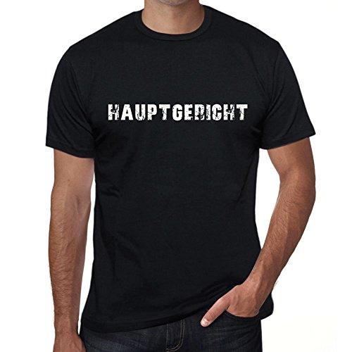 hauptgericht Herren T-Shirt Schwarz Geburtstag Geschenk 00548