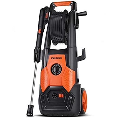 PAXCESS Electric Pressure Power Washer, Jet Washer 1800W 140Bar High Powerful Jet Wash Car Washing Machine with 26ft Hose,Spray Gun for Home Garden Furniture Walls Patio Fences Deep Clean Tasks from PAXCESS