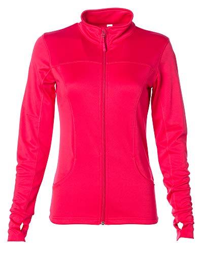 Global Yoga Jacket Women Lightweight Workout Sports Leisure Coat Large Coral