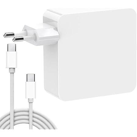 Cargador USB C, HUMTOOL 87W USB C Adaptador para Mac Book Pro, Cargador tipo C de 87W incluye Cable USB C Compatible con Mac Book Air/Pro/Retina, iPad Pro, iPhone 11/11 Pro/Pro Max, HUAWEI, SAMSUNG