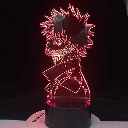 Lámpara De Ilusión 3D Luz De Noche Led Academia Dabi My Hero Anime Boku No Hero Academia Lámpara De Mesa Visual Mejores Regalos De Vacaciones De Cumpleaños Niños