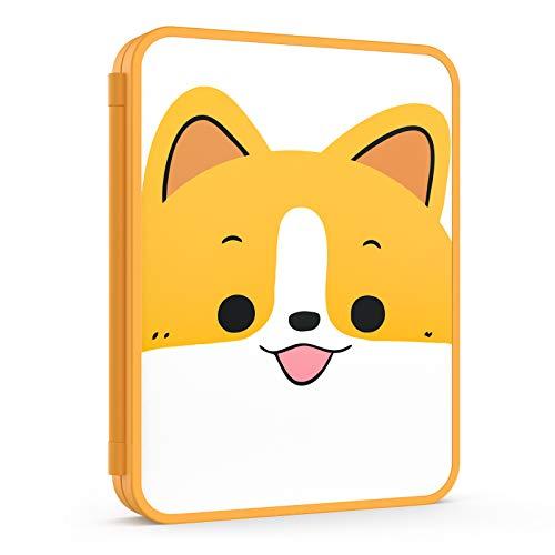 MoKo Funda para Almacenamiento de Juegos Compatible con Nintendo Switch & Switch Lite,Organizador de 16 Tarjetas de Juego Impermeable Resistente a Golpes Estuche Caja de Tarjeta - Perro Naranja
