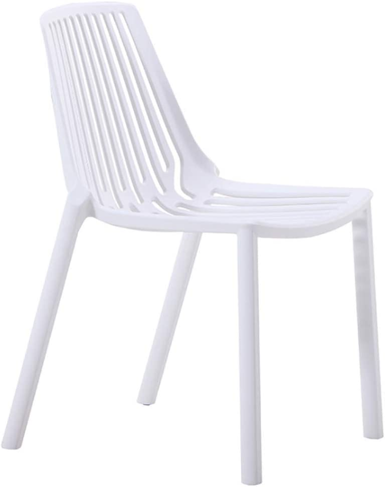 YUN Chaise en Plastique Simple Chaise Creuse Salle à Manger Chaise Chaise de Bureau Chaise de réception Chaise de Salon de Mode en Plein air (Couleur : Vert) Blanc