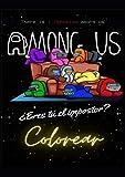Among Us Colorear: Excelente libro de pasatiempo para niños