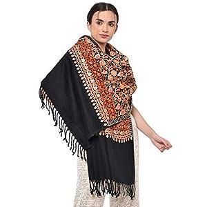 "Weavers Villa Women's Kashmiri Aari Embroided Cashmilon Woven Stoles, Shawls, Wraps (SIZE: 30"" X 80"") 12 41tfY7fDJOL. SL500 . SS300"