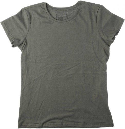 Hanes - T Shirt Femme Uni sans Etiquette Bio sans Logo Manche Courte Orange Orange 10