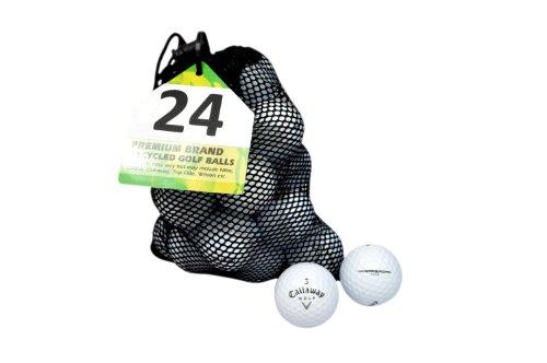 Second Chance Golfbälle 24 Callaway Warbird Lake A-Qualität, weiß, PRE-24-MESH-CAL-WARBIRD
