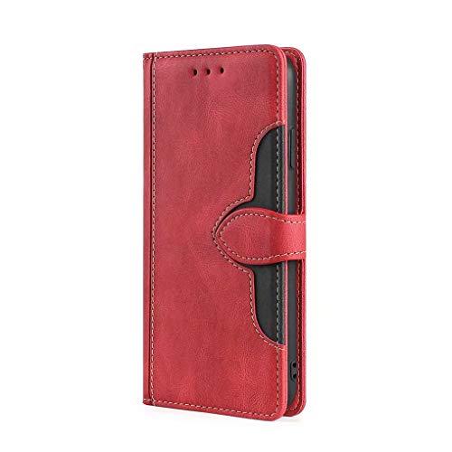 GOGME Cover per Xiaomi Redmi Note 10 4G Cover a Portafoglio, Custodia Chiusura Magnetica Flip Case Stile con Supporto di Stand/Carte Slot, Protettiva Custodia per Xiaomi Redmi Note 10 4G, Rosso