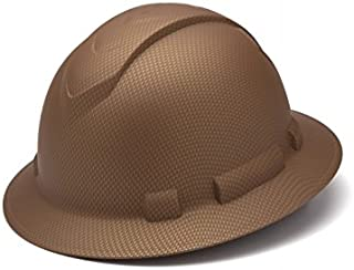 Pyramex Full Brim RIDGELINE Patterned Hard Hat with 6 Point Ratchet Suspension and Hard Hat Tote - Copper Graphite